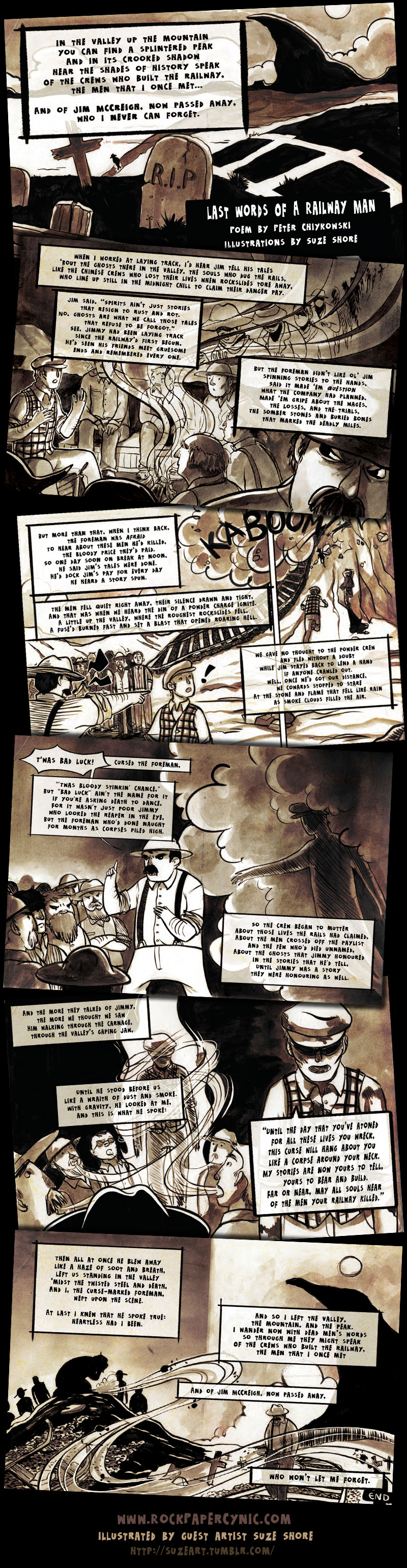 a collaborative ghost-story comic-poem from spooky history!
