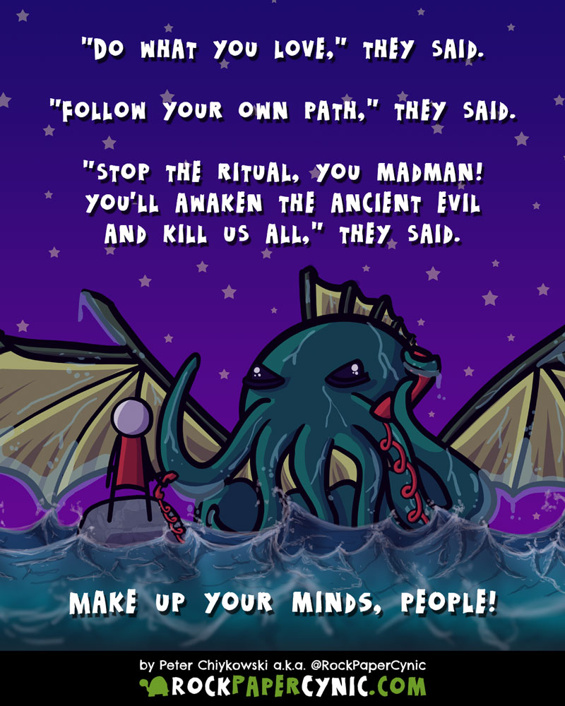 Here are some words to empower your inner necromantic Cthulhu-summonging megalomaniac