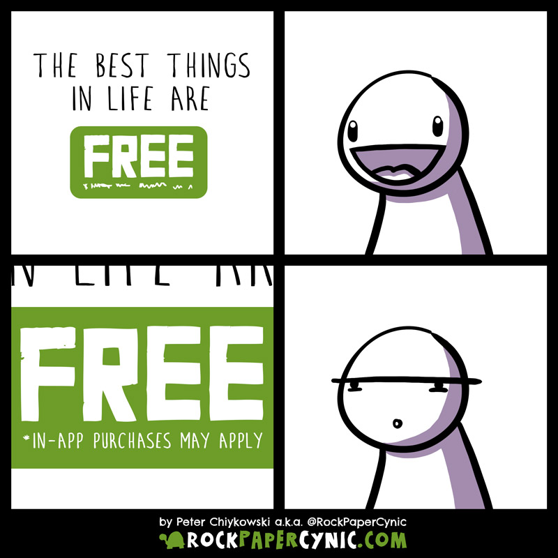 we examine the age-old maxim 'The  best things in life are free'