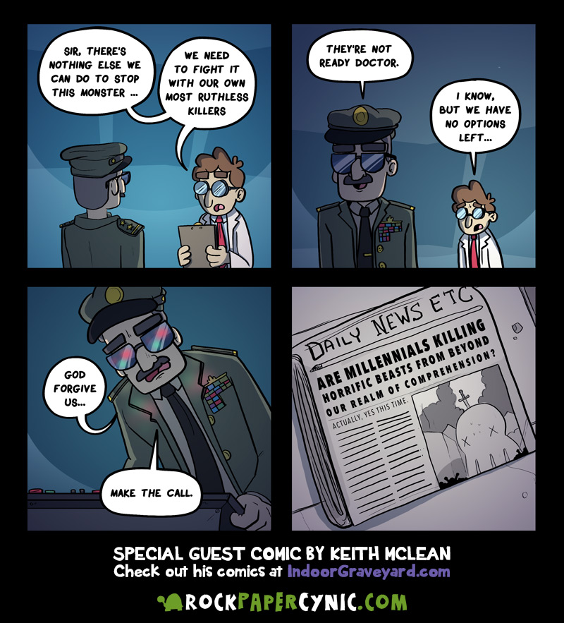 guest artist Keith Mclean unveils the military's darkest and best-kept secret--THE ULTIMATE KILLER